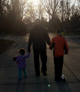 Walking with the kids - #2 - cropped